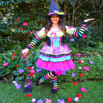 Rainbow Friendly Witch Party Entertainer for events