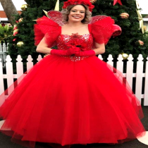 Red Rose Ball Gown Fairy