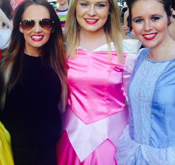 Samantha Jade with Fairy Wishes Sparkling Princess Entertainers at the Burwood Festival