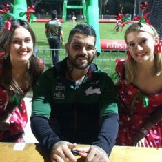 South Sydney Rabbitohs  Adam Renolds with Fairy Wishes
