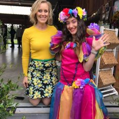 Celebrity Claire Hooper From The Great Australian Bake off With Rainbow Fairy Wishes